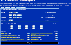 USAF Combined WAPS Promotion Score Calculator™ - SSgt
