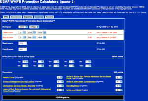 USAF Combined WAPS Promotion Score Calculator™ - SMSgt